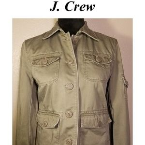 J Crew Military Jacket Green Size Small